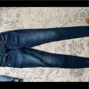 Express Faded Denim Skinny Jean